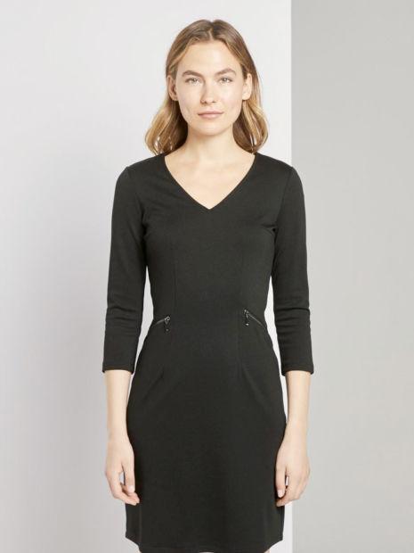 Kleid mit Reißverschlussdetails